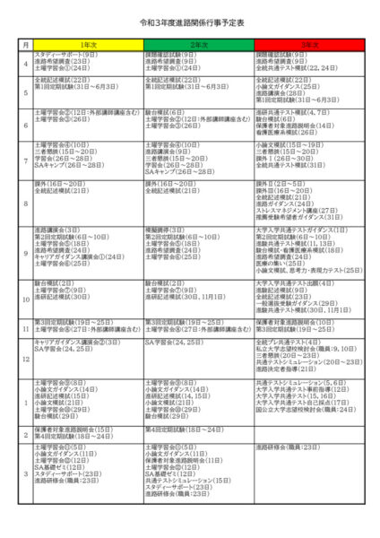 ★R3_HP用 R3都留高校進路関係年間行事予定表のサムネイル